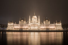 Opposite parliament Budapest Stock Image