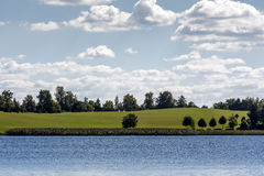 Opposite shore of Mazurian lake Royalty Free Stock Image