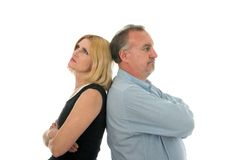 Opposite Sides Argument Royalty Free Stock Photography