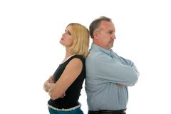 Opposite Sides Argument 2 Stock Photos