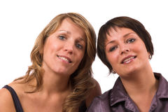 Opposite sisters Royalty Free Stock Images