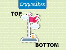 Opposite wordcard for top and bottom. Illustration royalty free illustration