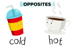 Opposite words for cold and hot royalty free illustration