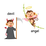 Opposite words devil and angel vector Royalty Free Stock Photography