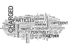 When Opposites Attract Word Cloud. WHEN OPPOSITES ATTRACT TEXT WORD CLOUD CONCEPT Royalty Free Stock Photography
