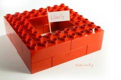 Oppositie tussen Vrijheid en Veiligheid Stock Afbeeldingen