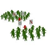 Opposition. Abbildung auf weißem Hintergrund. Bild 3D. Stockfotografie