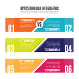 Opposition Bar Infographic Stock Photo