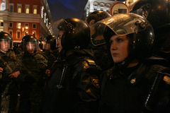 Opposition 'Day of Anger' in Moscow Stock Images