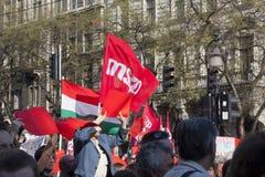 Opposition demonstration in Budapest Stock Image