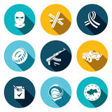 Opposition flat icon set Royalty Free Stock Photo