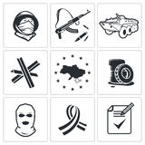 Opposition icon collection Royalty Free Stock Photos