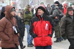 Opposition inconnue mars pour des élections justes Photographie stock libre de droits