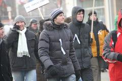 Opposition inconnue mars pour des élections justes Photos libres de droits