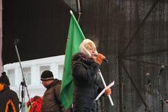 Opposition leader Yevgeniya Chirikova Royalty Free Stock Images