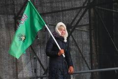 Opposition leader Yevgeniya Chirikova Stock Images