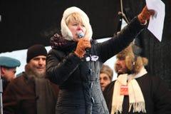 Opposition leader Yevgeniya Chirikova Royalty Free Stock Photo