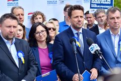 Opposition leaders European coalition. stock image