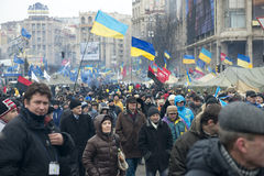 Opposition rally in Kiev Stock Photo