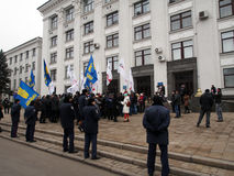 Opposition rally in Lugansk Royalty Free Stock Photos