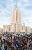 Opposition samlar på den Sakharov utsikten royaltyfria bilder