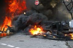 Opposition violente des citoyens Image libre de droits