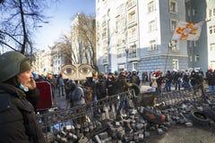 Opposition violente des citoyens Images libres de droits