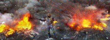 Opposition violente des citoyens Photos stock