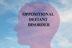 Oppositional Defiant Disorder - mental concept Royalty Free Stock Photography