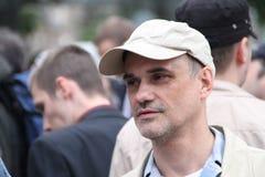 The oppositionist Igor Mandarinov on an oppositional action Stock Photography