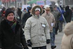 Opposizione sconosciuta su marzo per le elezioni giuste Fotografia Stock Libera da Diritti