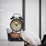 Oppressed by deadlines Royalty Free Stock Photo