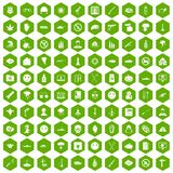 100 oppression icons hexagon green. 100 oppression icons set in green hexagon isolated vector illustration Stock Photos