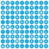 100 oppression icons set blue. 100 oppression icons set in blue hexagon isolated vector illustration vector illustration