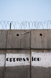 Oppression: The Israeli Separation Wall Stock Photo
