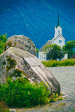 Oppstryn Church in Norway Royalty Free Stock Photography