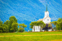 Oppstryn Church in Norway Royalty Free Stock Photos