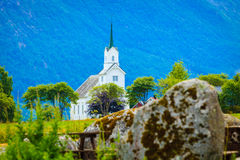 Oppstryn Church in Norway Stock Image