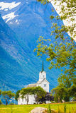 Oppstryn Church in Norway Royalty Free Stock Images
