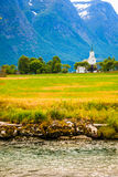Oppstryn Church in Norway Stock Images
