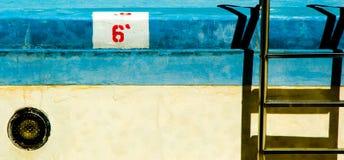 opróżnić basen opływa Zdjęcie Stock