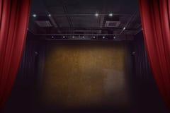 Opróżnia ścianę z światłem dla powystawowego pokoju Obraz Stock