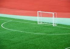 opróżnia śródpolną piłkę nożną Obraz Stock