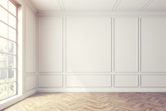 Opróżnia białego pokoju wnętrze, okno, światło ilustracji