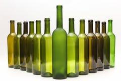 Opróżnia butelki wino na białym tle Zdjęcie Royalty Free