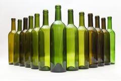 Opróżnia butelki wino na białym tle Fotografia Royalty Free