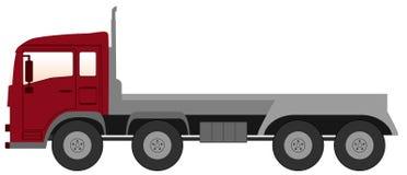 Opróżnia ciężarówkę z czerwoną kabiną Obrazy Royalty Free