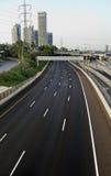 Opróżnia Cztery pasów ruchu autostradę Obraz Stock