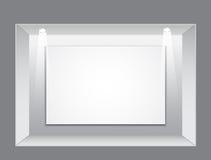 opróżnia galerii ramowego wnętrze ilustracja wektor