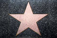 opróżnia gwiazdę Obrazy Stock